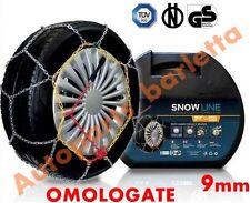 CATENE DA NEVE OMOLOGATE per auto 9mm GRUPPO 70 PNEUMATICI 195/60 R15 195/60-15