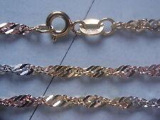 Fußkette 3-farbig Gold 333 Länge 25 cm x 2,3 mm, gedrehte Fußkette Gold 333