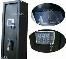GDK Digital Vault Locking 3 Gun Cabinet Shotgun Safe 2 Scoped Rifle Cabinet