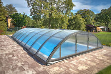 Schwimmbeckenüberdachung Poolüberdachung  Poolhalle Klasik C PK 8 mm Anthrazit
