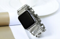 Stainless Steel Mechanical Bracelet Band Strap For Apple Watch series 5/4/3/2/1