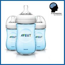 Philips AVENT Natural Bottle 9oz / 260ml BLUE - 3 Bottles (Triple Set)