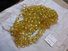lot de 300 perle vintage en verre jaune transparent déco bijou lustre PAMPILLES