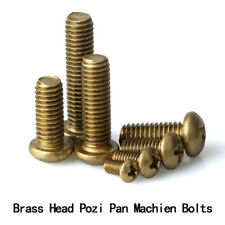 M2 M2.5 M3 M4 M5 M6 Copper Pozi Pan Head Machine Screws Brass Pozidrive Screw