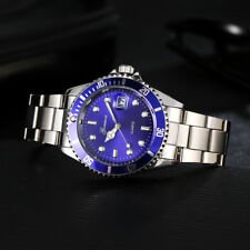 GONEWA Men Luxury Military Stainless Steel Date Sports Quartz Analog Wrist Watch