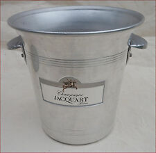 Vintage French Aluminum Champagne Ice Bucket Chiller Cooler Jacquart