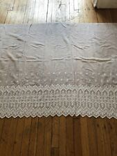 Antique Lace - Circa 1900's, Unused Embroidered Batiste Dress Yardage
