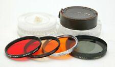 Vintage Original Nikon Four Black & White, Polarizing & CC Filters F/52mm Thread