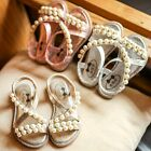 2017 Fashion Toddler Baby Sandals for Kids Girl Princess Roman Shoes Pearl Beach