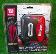 Wilson Sports AM/FM Stereo Cassette Player WG1HP Headphones Tape - New Sealed