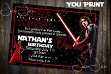 Star Wars Kylo Ren Party Invitation (You Print)