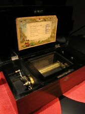Antique 19Th Century Henry Gautschi & Sons Swiss 6 Song Cylinder Music Box Works