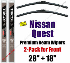 Wipers 2-Pack Premium Wiper Beam Blades - fit 2004-2009 Nissan Quest - 19280/180