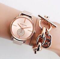 Original Michael Kors Uhr Damenuhr MK3640 Portia Farbe:Rose Gold/Kristall NEU!