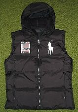 Mens $245. (M) POLO-RALPH LAUREN Black Down Puffer USA/ BIG PONY Hooded Ski Vest
