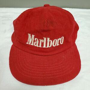 Vintage Red Corduroy Marlboro Snapback Hat