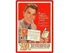 Ronald Reagan Chesterfields Tobbaco Cigarettes Refrigerator / Tool Box Magnet