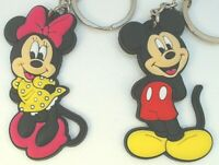 "1.5"" x2 Mickey Mouse Minnie Disney Channel Clubhouse PVC Keychain Lot USA"
