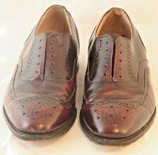 Profiles Johnston Murphy Burgundy Shell Wingtip Oxford 10.5 C Dress Shoe