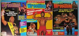 Vintage Pro Wrestling Magazine Lot of 3 Sports Review Wrestling New WCW WWF 1986