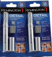 2 Remington Detail Dual Blade Precision Trimmer Fine Detail Stainless Steel