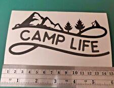 Camp Life Adventure logo - Camper/Car/Van/Fridge/Laptop Vinyl Decal Sticker