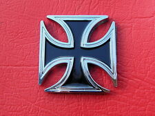 MALTESE CROSS BIKER EMBLEM Chrome Metal Badge *NEW & UNIQUE* Harley Davidson b