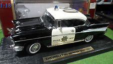 CHEVROLET BEL AIR 1957 POLICE CHIEF 1/18 ROAD LEGENDS YATMING 92107 voiture mini