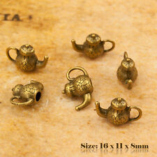 5 Antique Vintage Style Bronze Teapot Charms Pendant 101