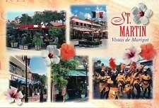 Views of Marigot, Saint Martin, St. Maarten, Dancers, Cafes, Markets - Postcard