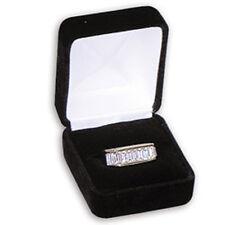 NEW 12 Jewelry Flock Velvet Ring Boxes Black Wholesale
