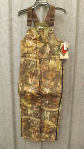 New WALLS Realtree Advantage Timber Camouflage Insulated Bib Overalls  YOUTH 14