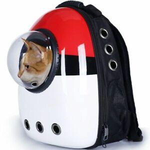 Pet Cat Dog Breathable  Backpack Bag Carrier Travel Bag Transport Cute Capsule