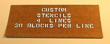 MARK YOUR GEAR WITH A CUSTOM STENCIL - ARMY- NAVY -AIR FORCE- MARINES -BSA- WW2-