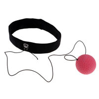 Boxing Fight Punch Exercise Ball MMA w/ Head Band for Reflex Speed Training