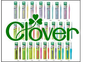 Clover Amour Crochet Hooks - Ergonomic Colourful Smooth Gliding Action: 23 Sizes