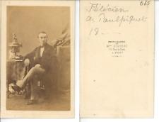 Disdéri, Monsieur Félicien de Poulpiquet  CDV vintage albumen carte de visite,