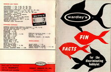 New listing Wardley's Fin Facts for the Discriminating Hobbyist 1950's