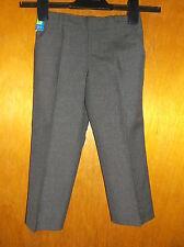 M&S 'Stormwear+'Adj.Waist Flat Front Pull On School Trousers 4y 104cm Grey BNWoT