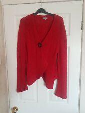 Ladies Red  Per Una Wrap cardigan size XL (18 -20)