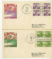 US Stamps FDC # 766a-767a in Gutter Blocks 2 Extremely Scarce Covers