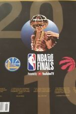 2019 NBA FINALS PROGRAM GOLDEN STATE WARRIORS TORONTO RAPTORS IN STOCK