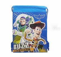 Disney Toy Story Drawstring String Backpack Sling Tote Bag - Blue