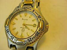 Authentic Vintage Bulova Marine Star Women Quartz Sport Watch T7 Gold Stainless