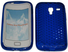 Per SAMSUNG GALAXY ACE PLUS GT S7500 PATTERN Gel Custodia Protettiva Cover blu nuova