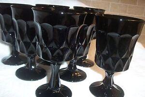 """2 pcs Noritake PERSPECTIVE Black 6 1/2"""" Goblets,excellent, no chips or cracks"""