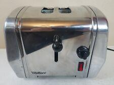 Vintage Retro Villaware Uno 2 Slice Toaster Modern Art Deco  5825 Chrome