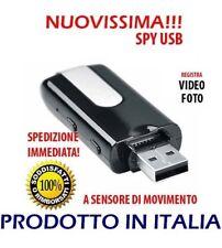 Chiavetta USB con Cimice Registratore Vocale e mini Videocamera Spia Gadget Spy
