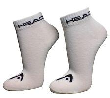 9 Paar SPARPACK Unisex HEAD Quarter 1/4 Schaft Sneaker Socken Invisible Weiß