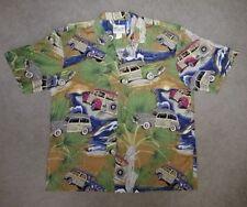 Diamond Head Sportswear button front sz XL woodys floral Hawaiian rayon USA made